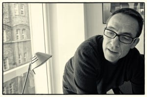 John Yorke black and white photograph in his home 2