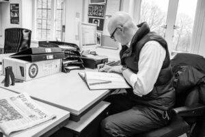 David Roden at work